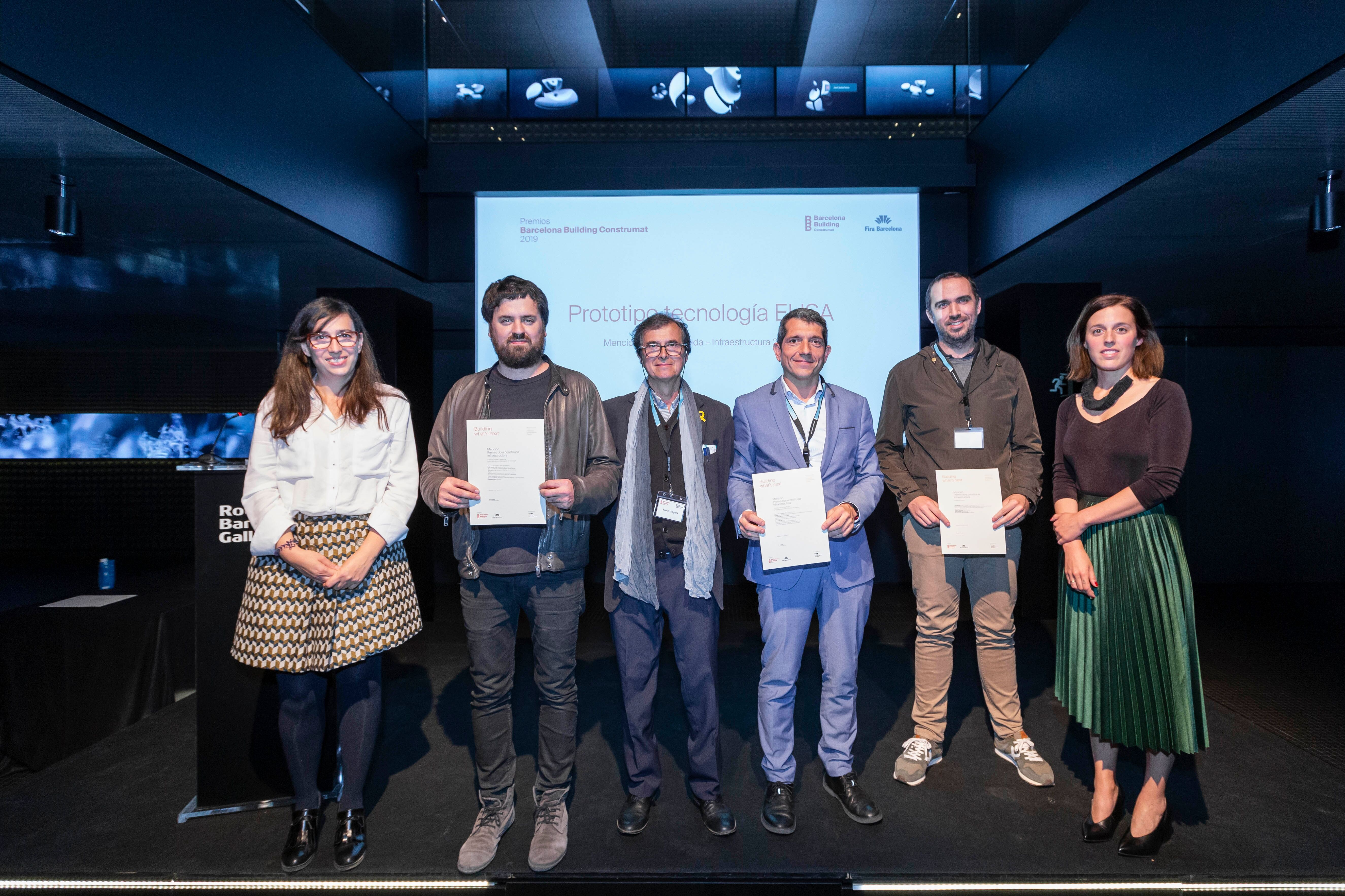 CONSTRUMAT AWARDS 2019. ELISA/ELICA TECHNOLOGY PROTOTYPE MENTION IN THE INFRASTRUCTURE WORK BUILT CATEGORY