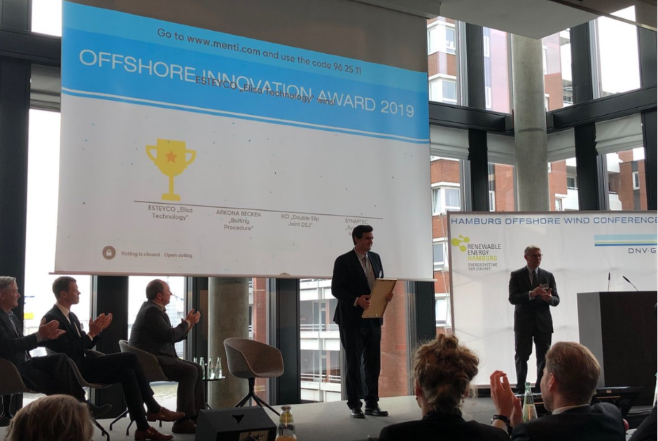ESTEYCO WINS THE FIRST DNV-GL OFFSHORE INNOVATION AWARD AT THE 16TH HAMBURG OFFSHORE WIND CONFERENCE