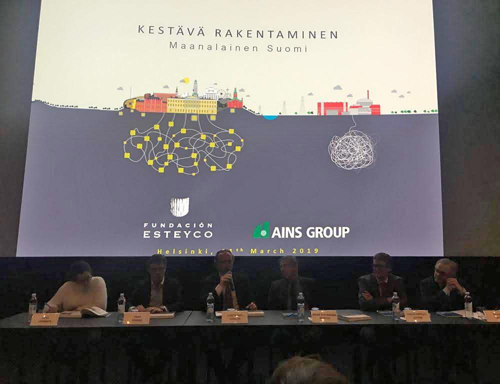 PRESENTACIÓN EN HELSINKI DEL LIBRO CONSTRUIR PARA LA ETERNIDAD. FINLANDIA BAJO LA SUPERFICIE