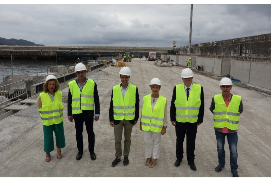 Construction of Dock Xixili visited by the Basque Government