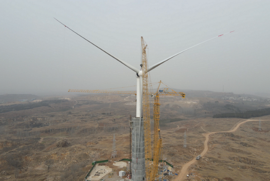 CAST-IN PLACE SELF LIFTING CONCRETE TOWER 170m HH PROTOTYPE IN CHINA